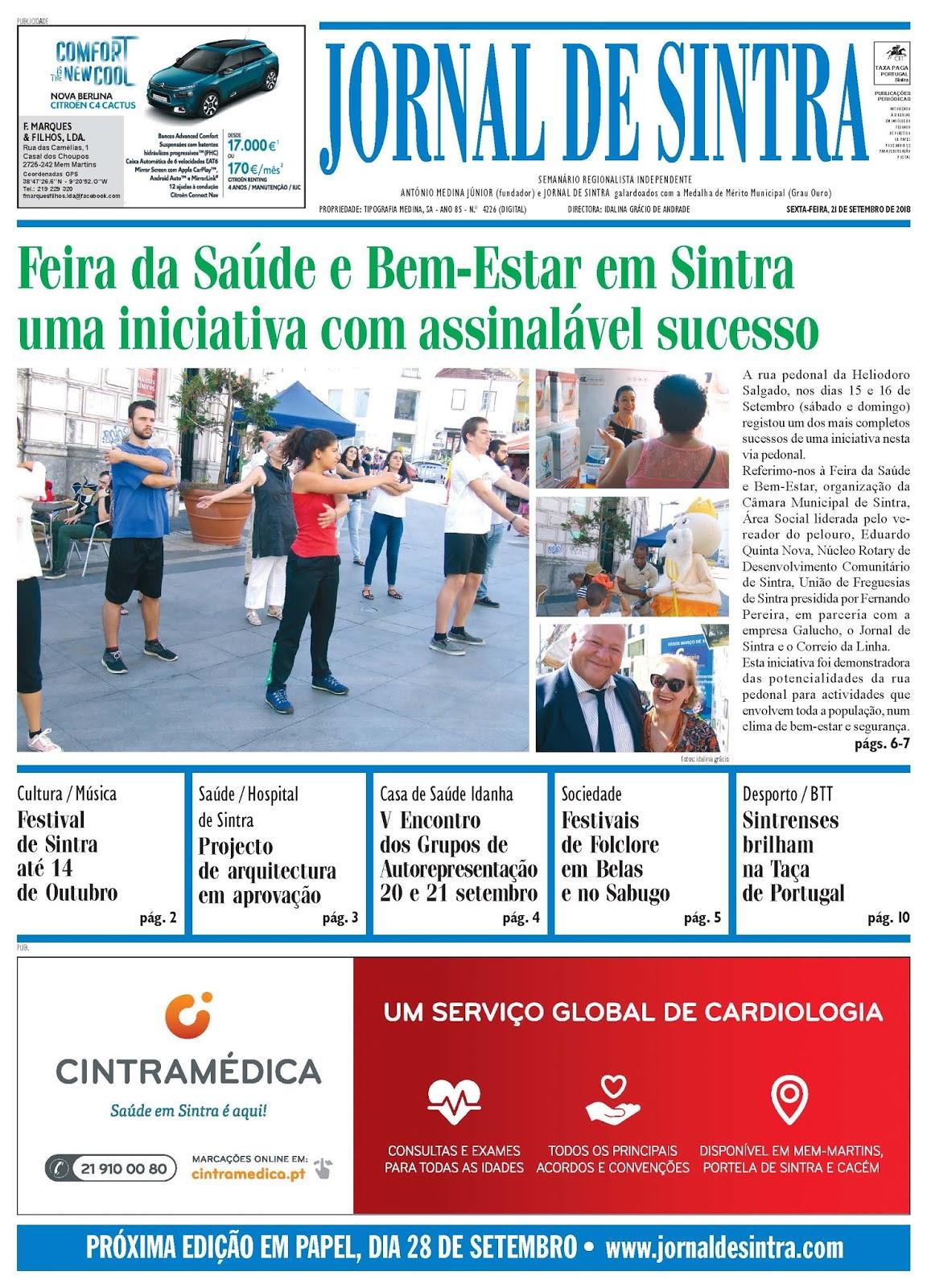 Capa da edição de 21-09-2018