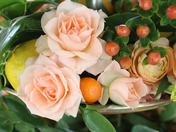 How To Create A Citrus Tablescape and a Lemon Coffee Bar