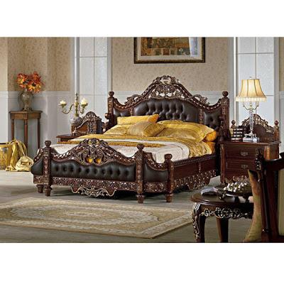 tempat tidur ukir raja