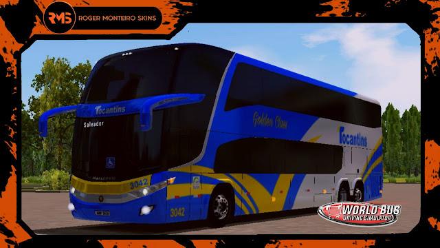 Skins World Bus, World Bus, wbds, Tocantins Transporte e Turismo