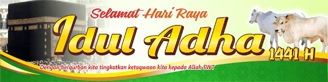 Contoh Spanduk Idul Adha 1441 H Tahun 2020 Format CDR