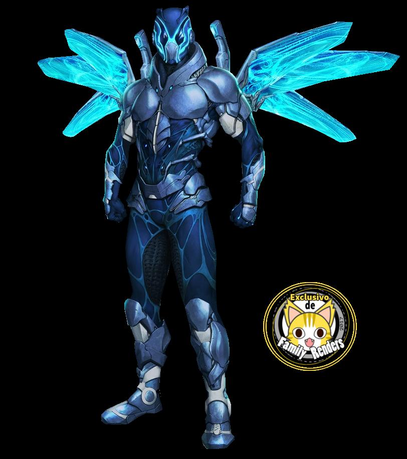 render blue beetle