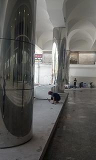 IMG 20180827 101339 Cột cờ inox 304 cao 9m 10 m 11m 12m, cổng xếp inox 304 , cổng xếp sắt không ray kéo tay
