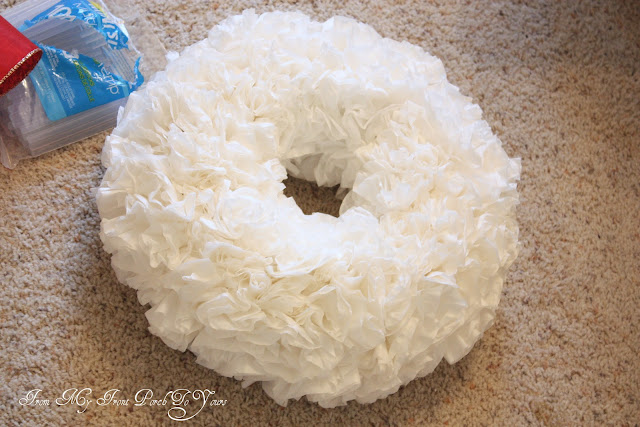 Coffee Filter Wreath Tutorial From My Front Porch To Yours