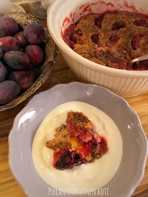 #luumuhyve #kaurapuuro #uunipuuro #hedelmäpuuro #terveellinenpuuro #herkkupuuro #jälkiruoka #aamiainen #terveellinen #resepti #luumu #plum #porridge #fruitporride #porridgeintheoven #delicious #homemade #oats