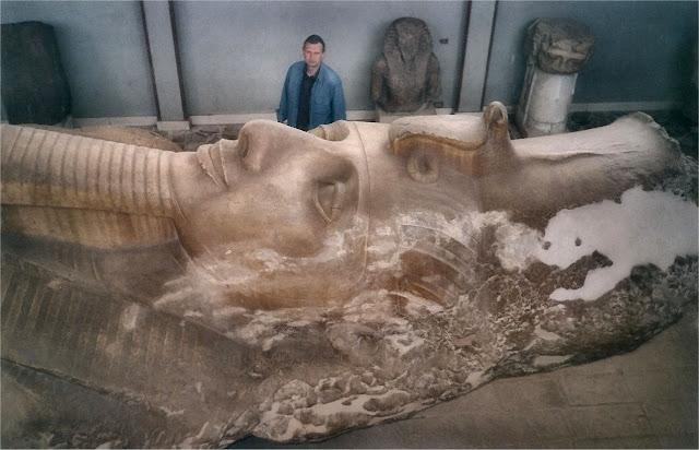 Coloso de Ramsés II. Museo de Menfis (Mit Rahina)