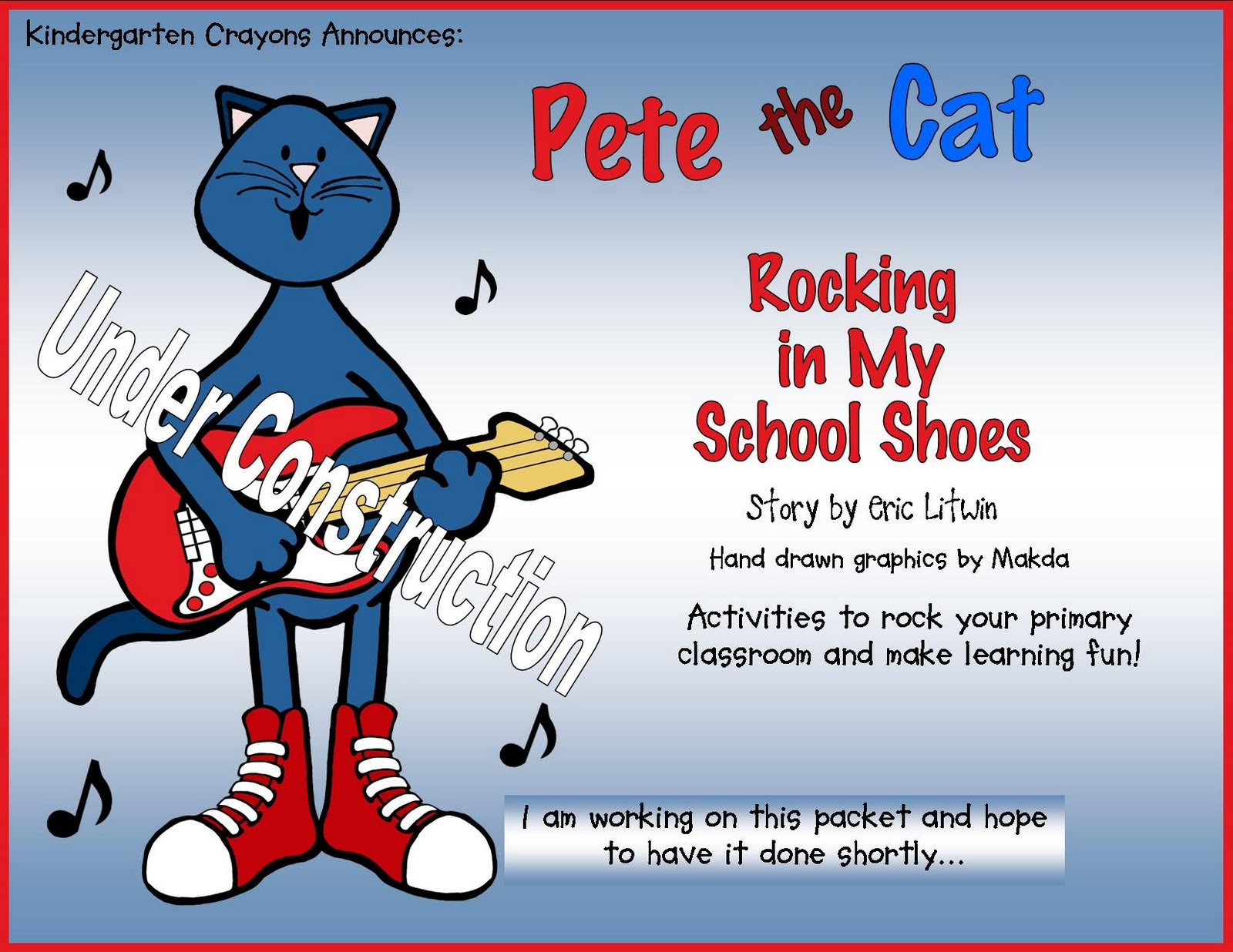 Kindergarten Crayons That Rocking Cat Came Back