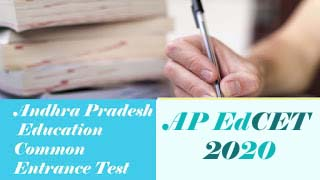 AP EdCET Notification 2020, AP  EdCET Application form 2020