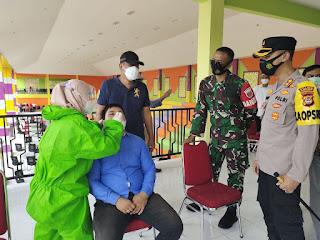 HUT Kabupaten Enrekang ke 61, Kapolres Enrekang Tekankan Wajib Tes Swab Antigen Bagi Undangan