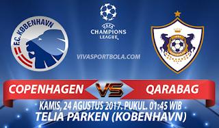 Prediksi Copenhagen vs Qarabag 24 Agustus 2017