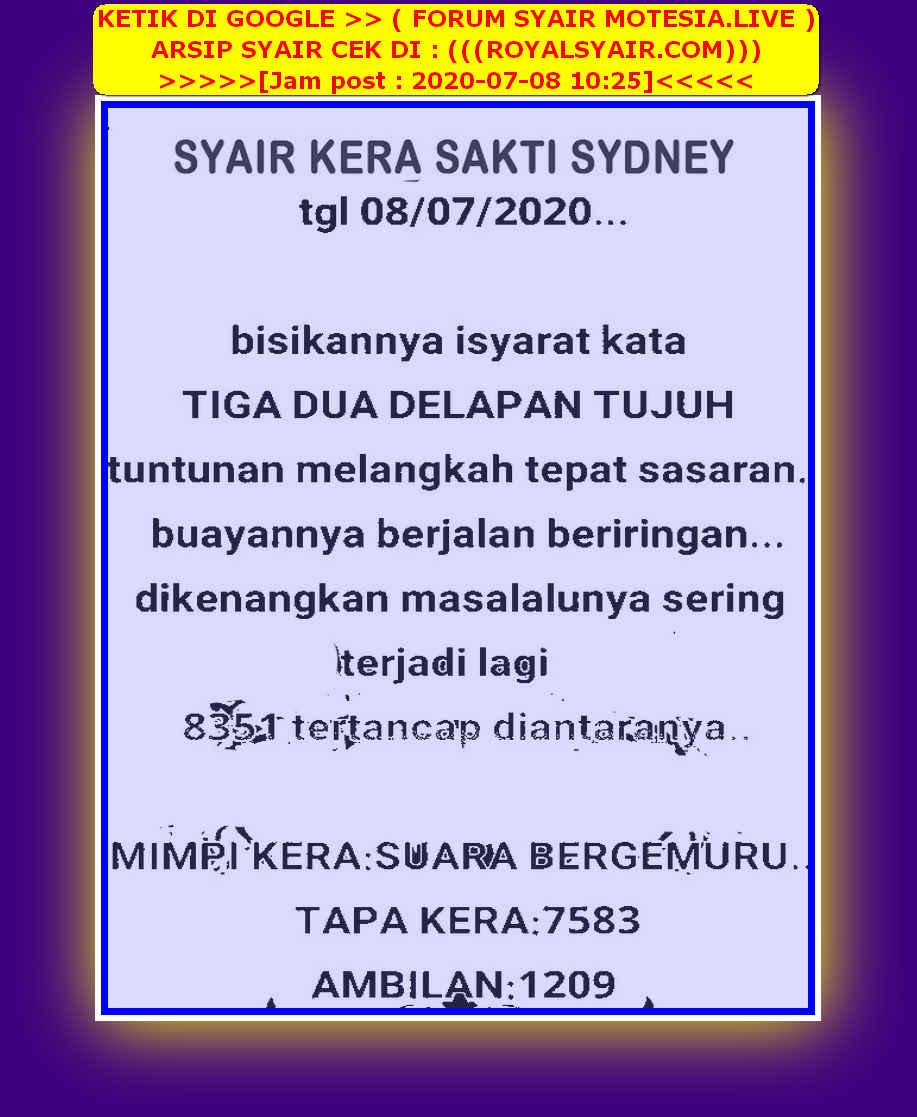 Kode syair Sydney Rabu 8 Juli 2020 40