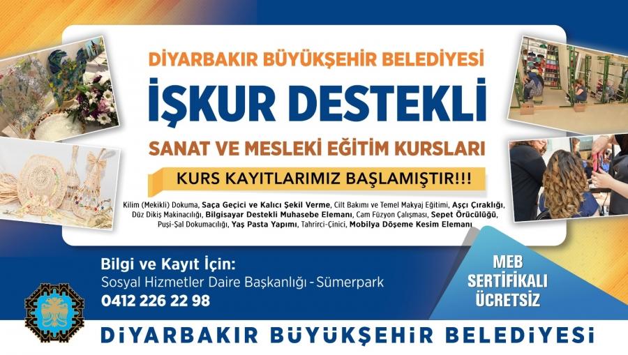 Diyarbakır Büyükşehir Belediyesi 12 farklı branşta kurs açıyor