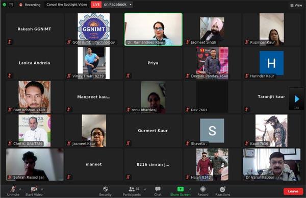 जीजीएनआईएमटी द्वारा आयोजित डिजिटल ट्रांसफॉर्मेशन के युग में साइबर सुरक्षा पर वार्ता के दौरान विशेषज्ञ