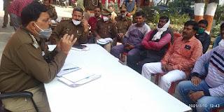 क्षेत्राधिकारी रामनगर दिनेश चन्द्र दुबे ने थाना मसौली में होटल और ढाबा संचालकों के साथ की बैठक