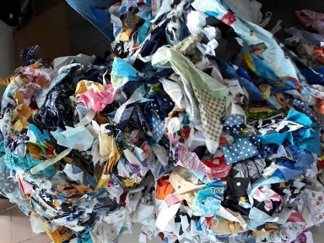 membuat kerajinan tangan dari bahan kain perca