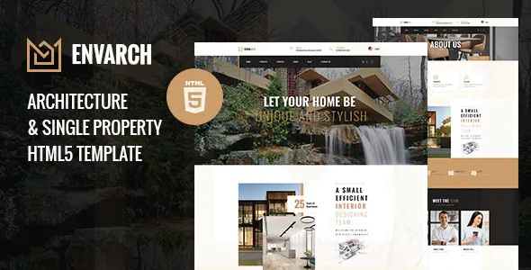 Best Architecture and Single Property HTML5 Template
