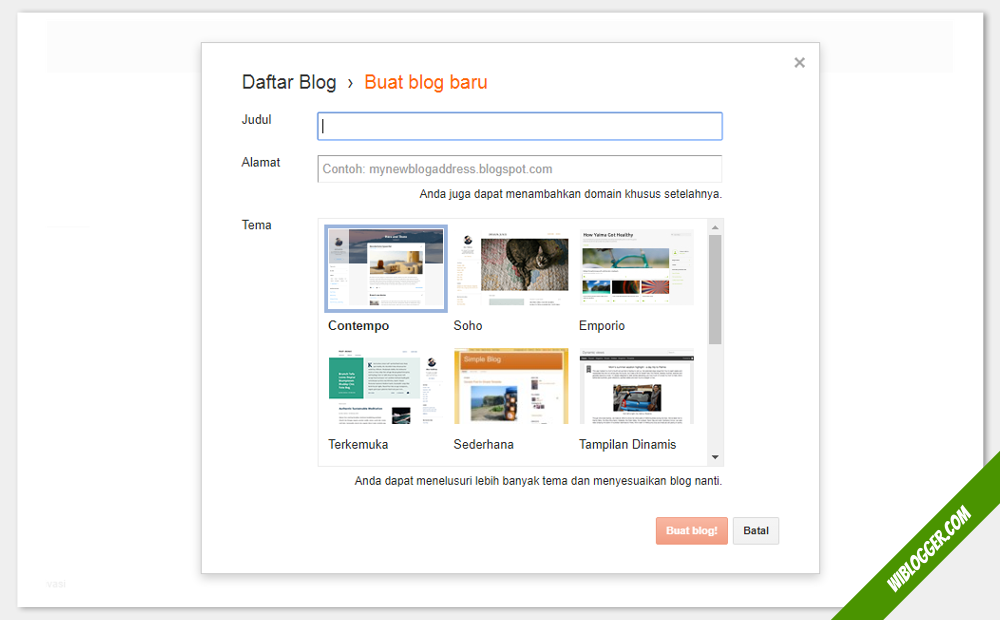 tutorial membuat blog baru