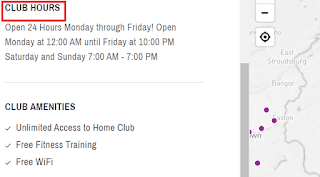 Planet Fitness Hours of Operations