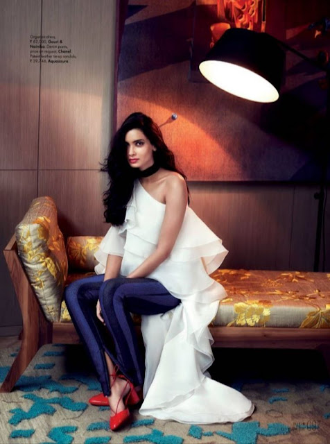 Diana Penty Looks Stunning as the Cover Girl of Elle Magazine!