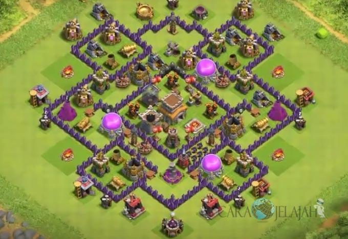 Base Farming TH 8 Clash Of Clans Terbaru 2017 tipe 11