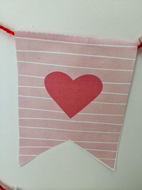 Banderines DIY corazón rojo