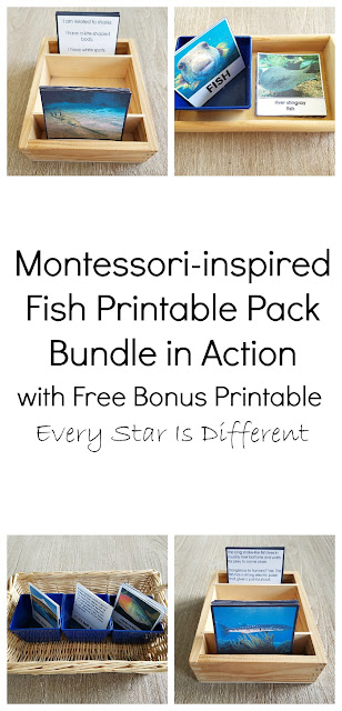 Montessori-inspired Fish Printable Pack Bundle in Action with Free Bonus Printable