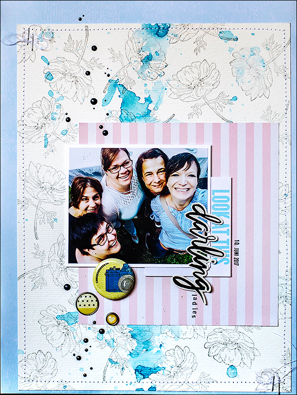 Stephanie Berger - Scrapbooking Layout - Darling Ladies