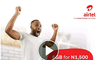 Airtel data plan, airtel N1500 for 6GB data plan