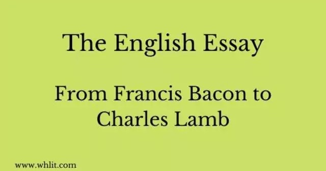 Compare and contrast francis bacon and charles lamb as essayists african american essay contests