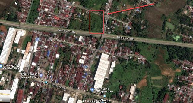 Peta Tanah Kosong Di Jl Rasmi Madirsan Samping Tol Tanjung Morawa Medan Sumatera Utara