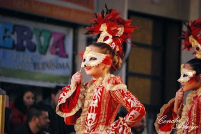 Participantes carroza infantil en las fiestas de Carnaval de Aguilas 2019