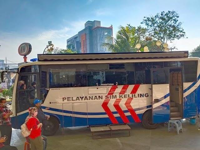 Jadwal Layanan SIM Keliling Polrestabes Bandung Bulan Januari 2021