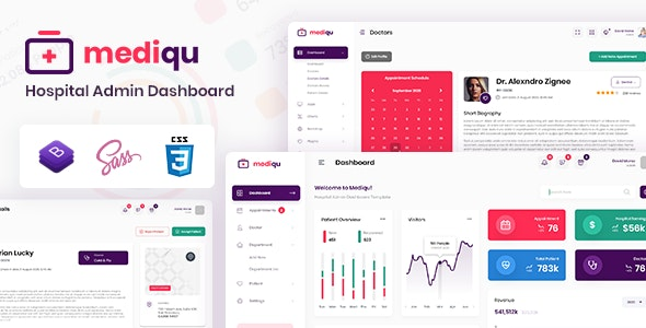 Mediqu - Hospital Admin Dashboard Template
