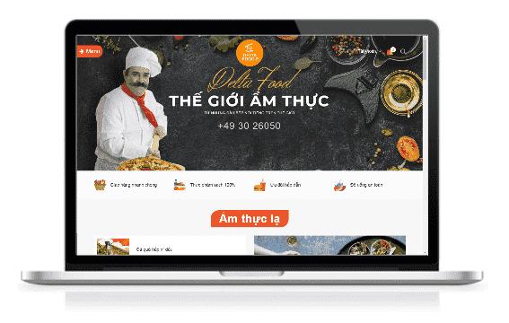 Giao diện blog Nhà hàng ẩm thực chuẩn SEO