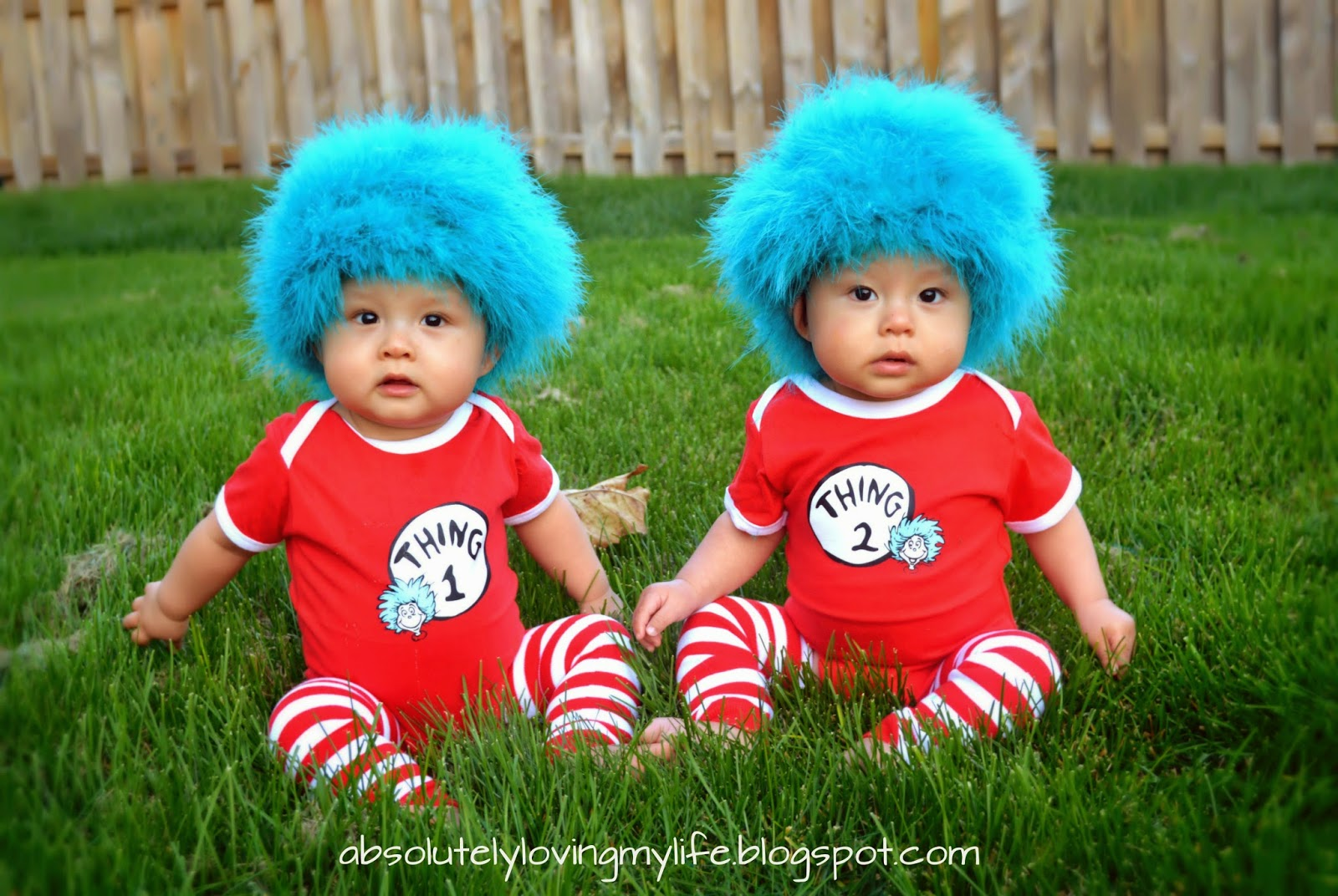 Loving Life  DIY Thing 1 and Thing 2 Baby Costumes 322c91c455