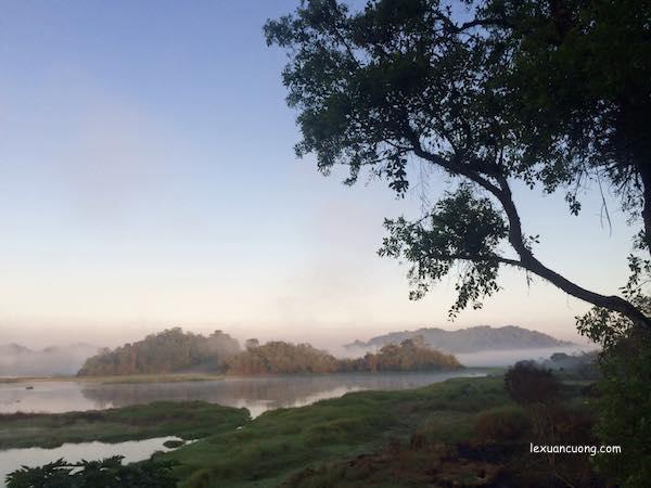 Buổi sáng ở Bàu Sấu tại Rừng Nam Cát Tiên, Đồng Nai