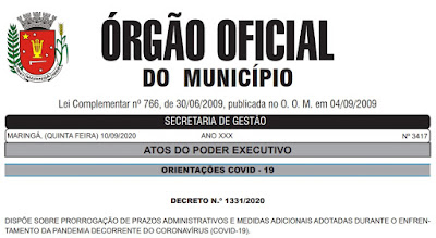 Órgão Oficial do Município de Maringá. Café com Jornalista