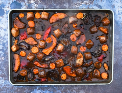 Vegan Sausage and Sweet Potato Bake - Step 6 - Gravy