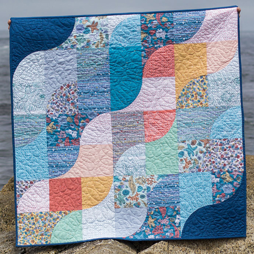 Tide Lines Quilt designed by Kim Andersson and Stacey Day of I Adore Pattern for Windham Fabrics