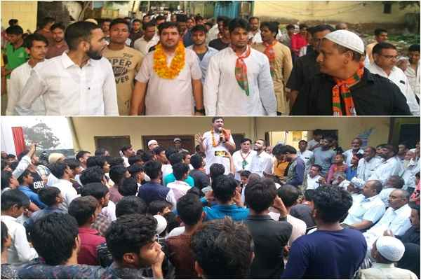 yashvir-dagar-ward-welcome-in-dhoj-village-support-for-election-news