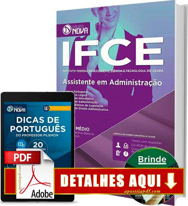 Apostila IFCE 2016 Assistente em Administração Impressa