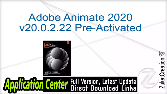 Adobe Animate 2020 v20.0.2.22168 Pre-Activated