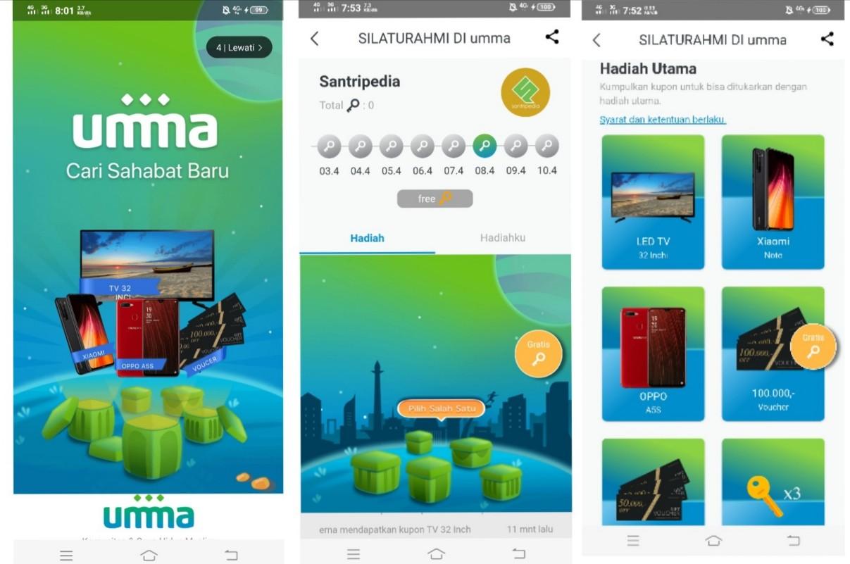 Event Aplikasi Umma, Berhadiah TV hingga Smartphone