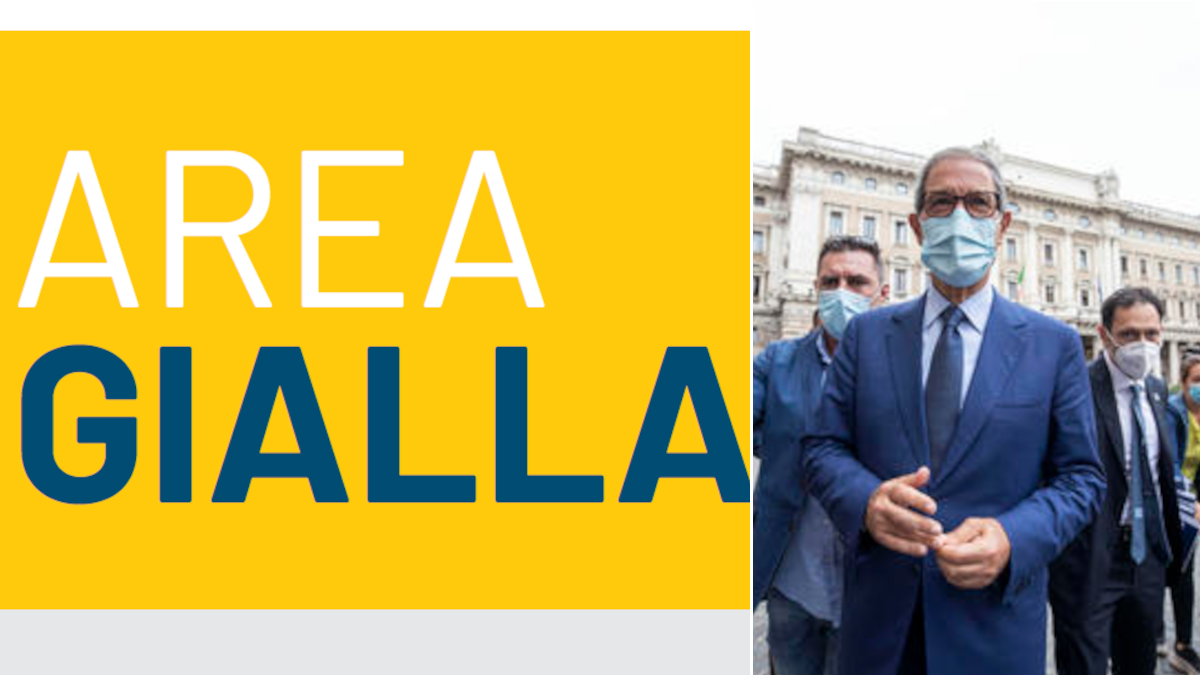 È ufficiale: la Sicilia passa nuovamente in zona gialla da lunedì