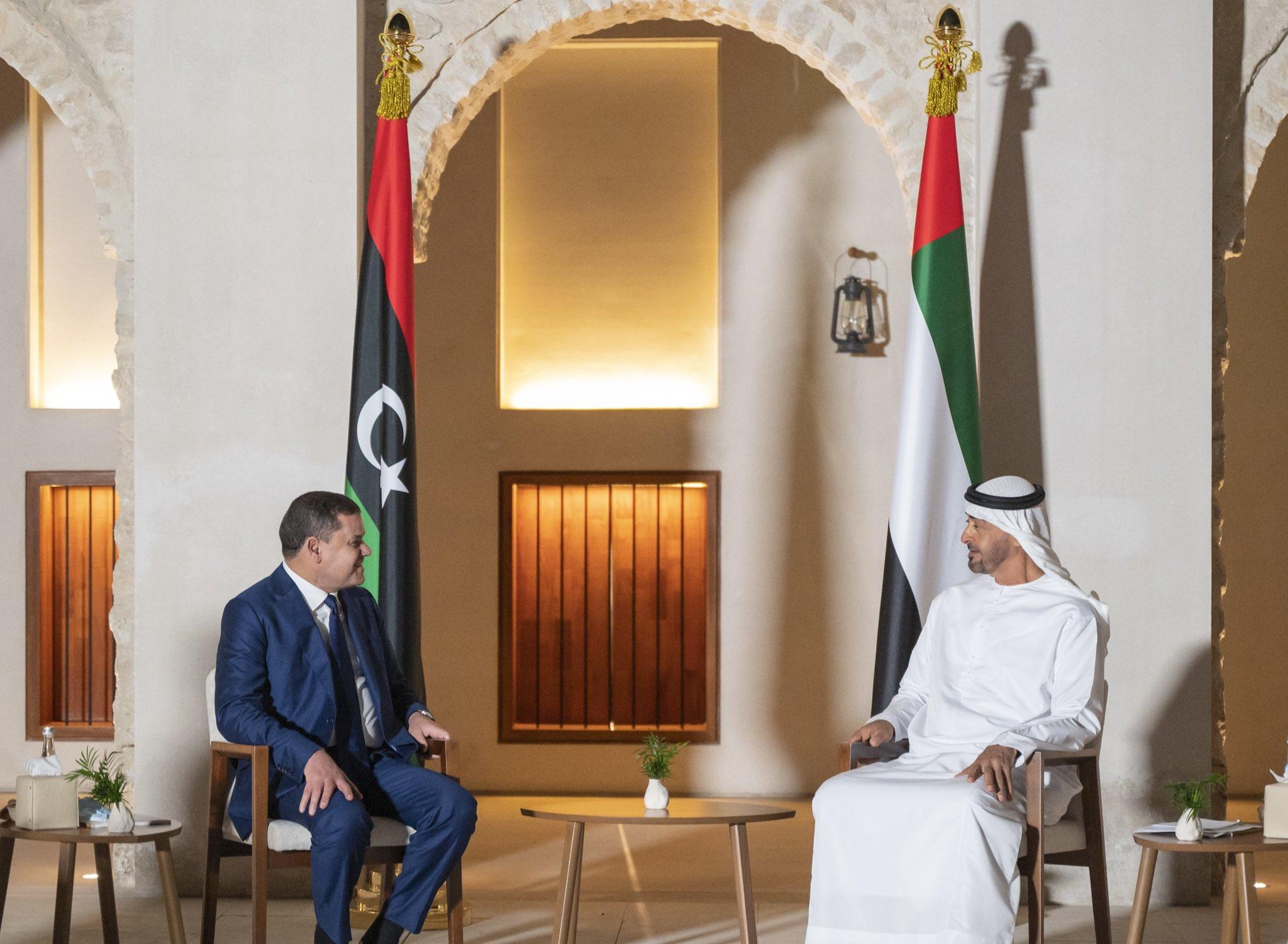 Prime Minister of Libya visits Mohamed bin Zayed