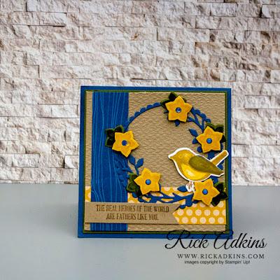 Birds & Branches Bundle, Misty Moonlight, Bumblebee, Tasteful Textile 3d embossing folder, Rick Adkins, Stampin' Up!