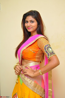 Lucky Sree in dasling Pink Saree and Orange Choli DSC 0371 1600x1063.JPG