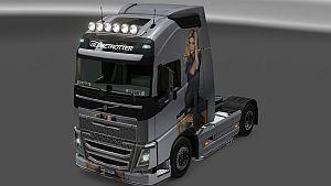 Vera Brezhneva paint job for Volvo 2012