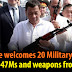 Duterte welcomes 20 Military Trucks, 5000 AK-47Ms, Weapons and Equipment donated by Russia