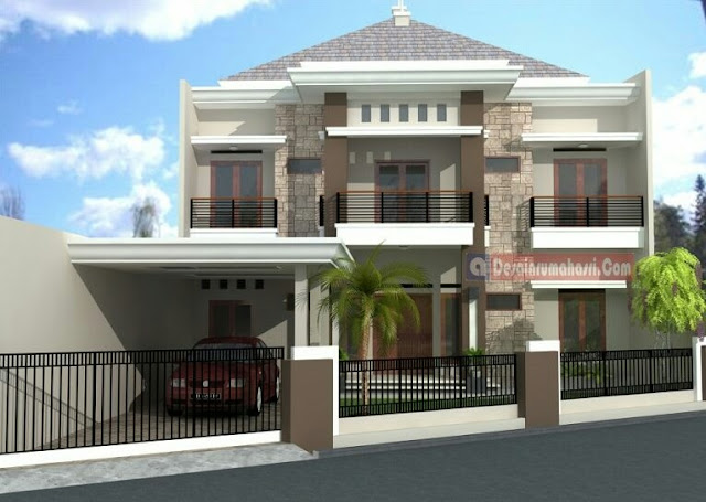 2-Story House with Balcony in Every Room